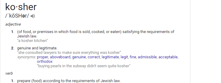 what is kosher